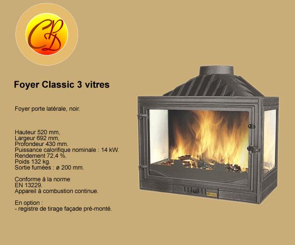 Chemine inserts chemine foyers ferms poles chemine for Insert 3 faces vitrees